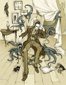 Lovecraft in the Agony of ContemplationIllustration by MirrorCradle