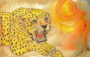 """Illustration by Marge Simon that appeared with my story """"Dream Warrior"""" in the February, 2013 issue of Sorcerous Signals"""