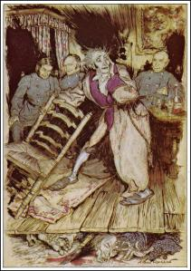 """The Tell-Tale Heart"" Illustration by Arthur Rackham, 1935"