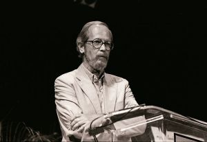 Elmore Leonard  at the Miami Book Fair International, 1989 Photo by MDCarchives