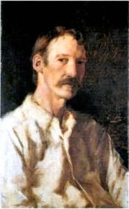 Robert Louis Stevenson Portrait by Girolamo Nerli  (1860-1926)