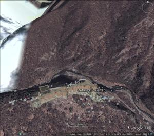 Cetatea Poenari (from Google Earth)