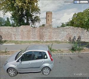 Chindia Tower from the street (from Google Earth)