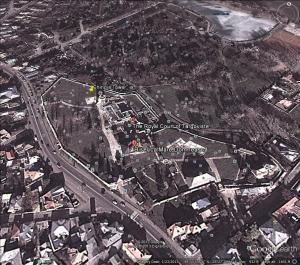 Tirgoviste Palace today (from Google Earth)