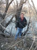 The blogger on the banks of the San Juan River, Farmington, NM.