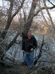 Standing on the bank of the San Juan River in Farmington, NM, 2013