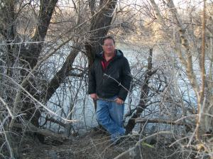The blogger on the banks of the San Juan River, Farmington, NM, 2013