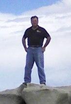 The blogger hiking in the Bisti Wilderness near Farmington, NM.