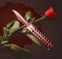 rose and balisong