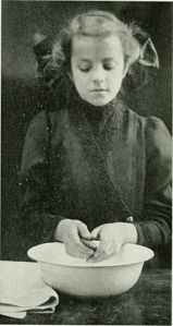 Girl Washing Hands, 1911