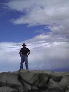 Phil Slattery hiking in the Bisti Wilderness near Farmington, NM, circa 2013