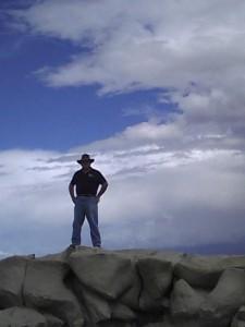 Phil Slattery hiking in the Bisti Wilderness near Farmington, NM, circa 2013