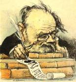 Caricature of Emile Zola by Leandre, circa 1900