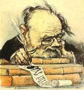 Caricature of Emile Zola by Leandre, circa 1900