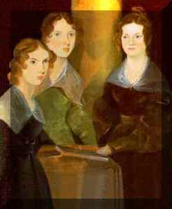 Anne, Emily, and Charlotte Bronte by Patrick Branwell Bronte circa 1834