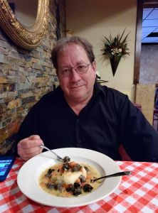 Having dinner with my wife at Ray's Italian Bistro, Midland, TX, May, 2019