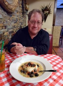 Eating at an Italian Restaurant in Midland, TX