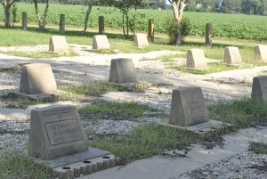 Photo of headstones of some of the Japanese-Americans who died at rohwer.