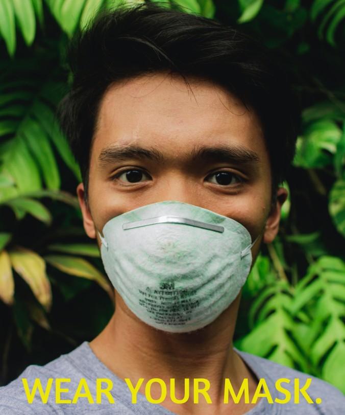 Photo of man wearing a coronavirus mask