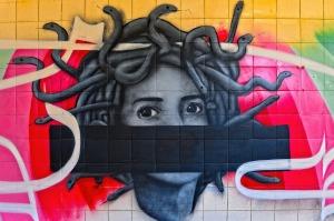 Photo of Medusa on wall