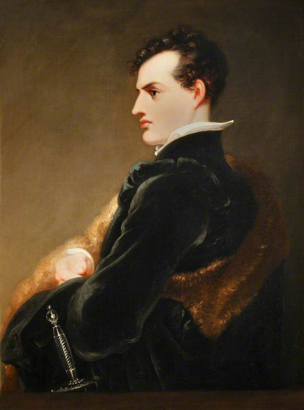 George Gordon, Lord Byron (1788-1824) portrait dated 1813.